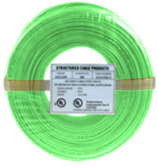 Cable 22/4 SOL 500' Green Coil Pack