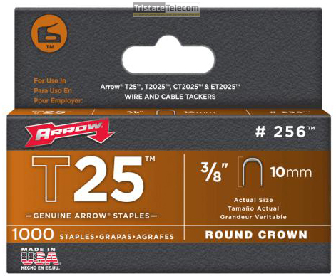 "3/8"" Staples For T25 1000 Pac k"