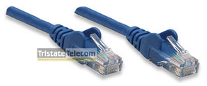 Patch Cord CAT 5e W/Boot 0.5' Blue