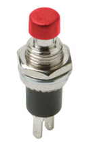 Push Button Mini- Red SPST N/O 10 Pack