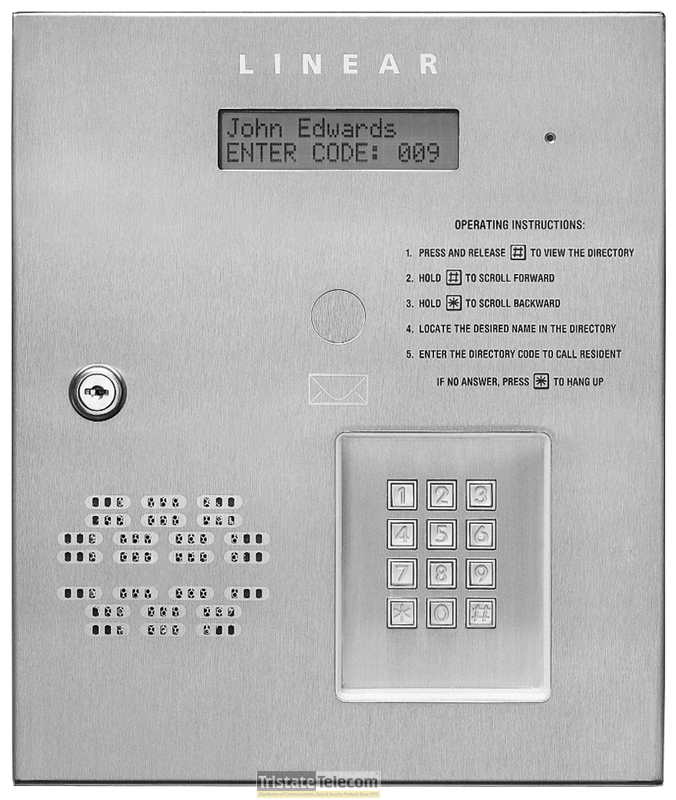 Commercial Telephone Entry System 2x16