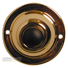 Push Button Round Chrome 1 3/4""