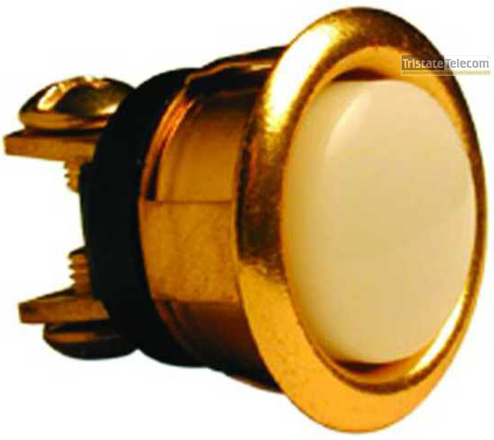 Push Button Round Brass 5/8""
