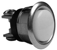 Push Button Chrome Unlighted 5/8""