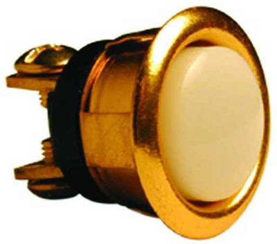 Push Button Brass Lighted 5/8 ""