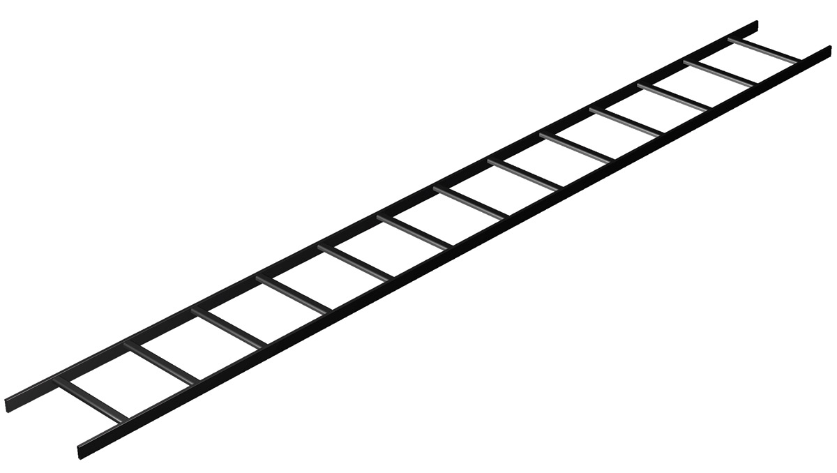 "Ladder Rack 10'X12"" Black"