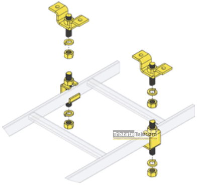 Ladder Rack 5/8 SLOTTED CEILING KIT,6