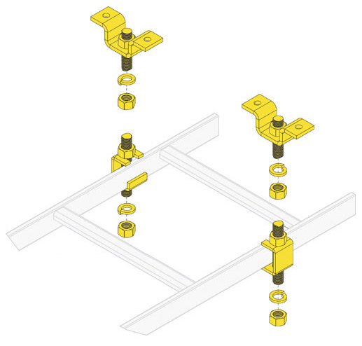 Ladder Rack 5/8 SLOTTED CEILING KIT,1