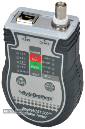 Pocket CAT RJ45/Coax Tester