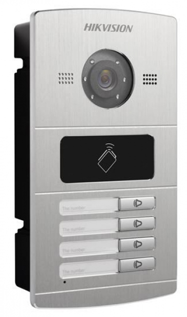 Video Intercom Door Panel 4 Button Metal