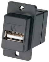 USB Panel Mount Coupler Type  A