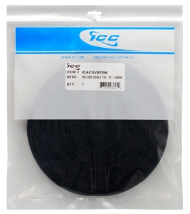 "VELCRO CABLE TIE, 12"", BLACK,