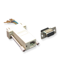 ADAPTER, MODULAR, M TO 8P8C