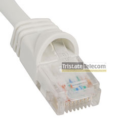 Patch Cord CAT 5e W/Molded Boot 1' White