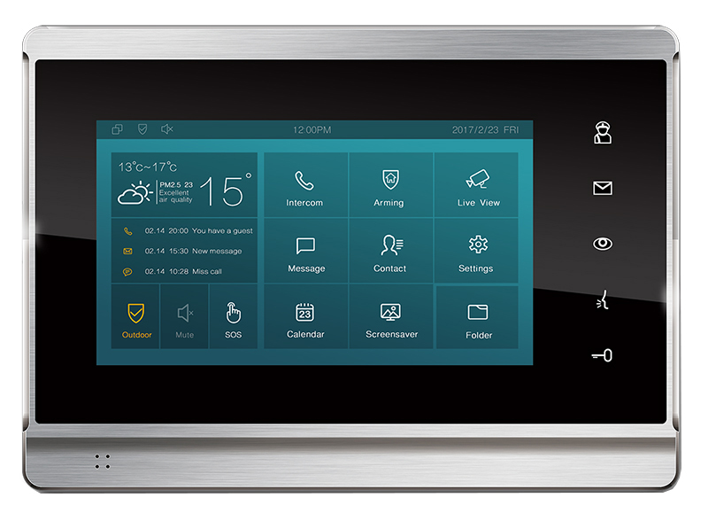 "Video Intercom Touch 7""LCD Metal Android"