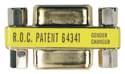 Compact Gold Gender Changer DB9F/F