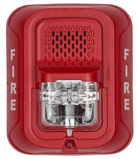 Horn Strobe Red L Series 2 Wire Wall Mou