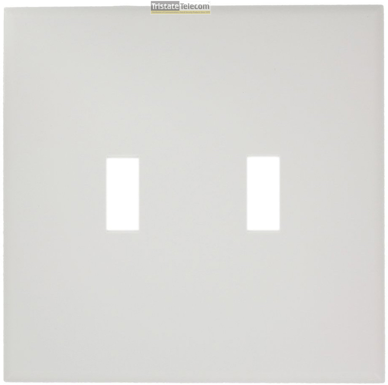 2-Gang Midsize Switch Wallplate - White