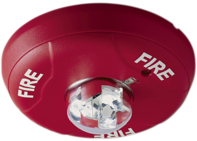 Horn/Strobe Ceiling Mount Red L-Series