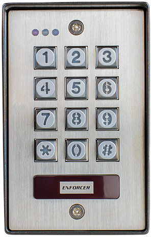 Weather-Resistant Keypad Outdoor W/Prox