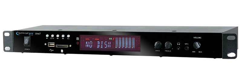 Audio Recorder/Player Rackmount 1U